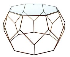 Pin for Later: 17 Pieces From World Market's Fall 2016 Collection That Will Blow You Away  Faceted Metal Coffee Table with Glass Top ($230)