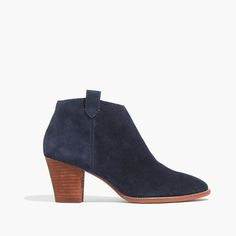 madewell suede billie boot in ink.