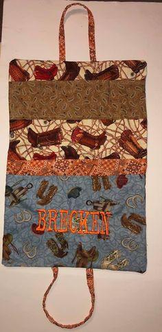 Plaid Mock Vest Keepsake Bodysuit Embroidery Name