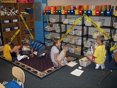 Rope off library on the first day of school until the kids have learned procedures and sat through a few mini-lessons on just right books. Then, let them unwrap the library like a present! Classroom Setting, Classroom Design, Classroom Organization, Classroom Libraries, Classroom Ideas, Classroom Management, Classroom Activities, Book Care, Library Lessons