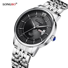 >> Click to Buy << LONGBO Brand Top Luxury Full Steel Men Watches Men Business Watch Auto Date 3ATM Waterproof Quartz Relogio Masculino 80079 #Affiliate