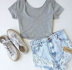 ♡ omg!!! I love this...anywhere I can get this??? Converse:already have shirt:?? Shorts:Tillys/khols