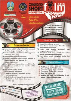 Communication Short Film Competition 3 2015 Grand Final : Sabtu, 9 Mei 2015 Tempat : Ruang Kantor FISIP, Gedung B, Lt. 2, Kampus 1, Universitas Muhammadiyah Sidoarjo (UMSIDA), Sidoarjo  http://eventsurabaya.net/?event=communication-short-film-competition-3-2015