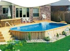 Image result for Above ground pool landscaping