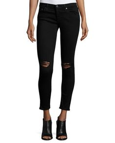 TD4GQ AG Adriano Goldschmied The Legging Ankle 1 Year Black Pond Jeans