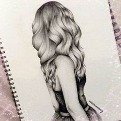hair sketch for tattoo Amazing Drawings, Love Drawings, Beautiful Drawings, Drawing Sketches, Amazing Art, Art Drawings, Drawing Ideas, Sketching, Drawings Of Hair