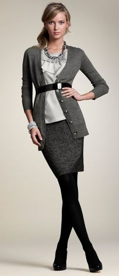 Great look by Ann Taylor for the work scene.