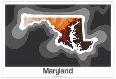 Maryland elevation map