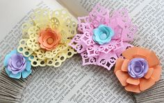 paper flowers using punches
