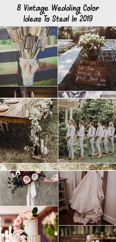 sage green and bronze vintage wedding color ideas #emmalovesweddings #weddingideas2019 #PinkBridesmaidDresses #TaupeBridesmaidDresses #GrayBridesmaidDresses #NeutralBridesmaidDresses #BridesmaidDressesTwoPiece