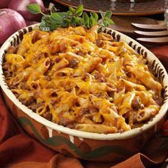 Mostaccioli Casserole Recipe (with 8 oz. Dreamfields penne rigate, Healthy Request tomato soup, 96% lean ground beef = 7pts+)