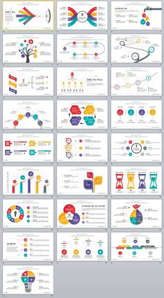 25+ Infographics multicolor PowerPoint Template