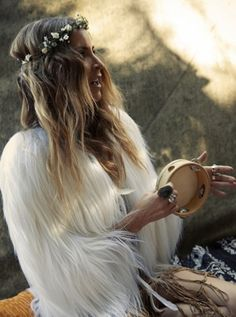 #Gypset #Book. #Photography by Sybil Steele. (PS Follow The LANE on instagram: the_lane)#accessorize #boho #bohemian #style #styling #romantic #unique #wedding #weddinginspo #inspo #boholuxe #Jewelry #armcandy#accents #music #flower #flowercrown #fur #longhair