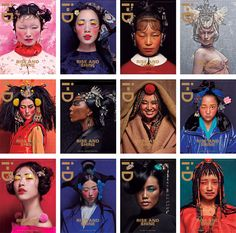 i-D 2012 covers photographed by Chen Man