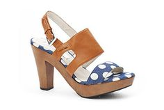 McGuire Heel - White Spot/Tan - $319 RRP http://www.kathrynwilson.com/index.php?option=com_content&view=article&id=884&Itemid=111