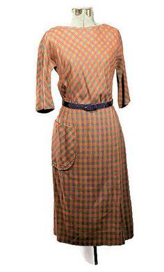 #1950's R&K Scottish Wool Plaid #SheathDress #labordaysale #vintageonly