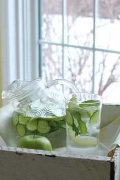 Refreshing Apple Cucumber Drink