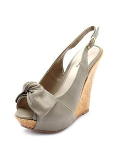 bow-front slingback cork wedge    I love these! Its too good to be true if they're $10.49!