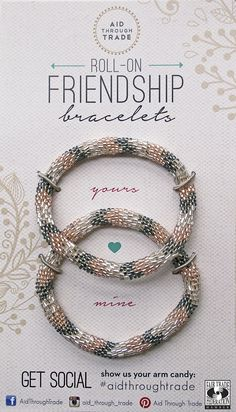 Brand new Roll-on Friendship Bracelets from Aid Through Trade!