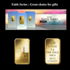 Faith Series : Great choice for gifts Gold Bullion Bars, Romanesque, Gold Coins, Christian Faith, Special Occasion, Investing, Gifts, Presents, Romanesque Art
