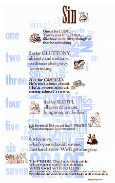 the crucible and the seven deadly sins Read the book maybe six months ago, let me see if i can help you out lust- well proctor wasn't he eyeing 'ol abigail :) 7 years ago.