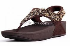 Coffee Fitflop Sandals Rock Chic S for Womens
