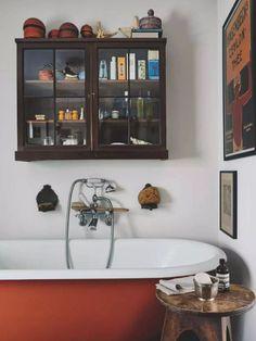 Love the storage cabinet Double Vanity, Bathroom Wall, Toilet, Double Sink Vanity, Flush Toilet, Toilets, Powder Room, Toilet Room, Bathroom