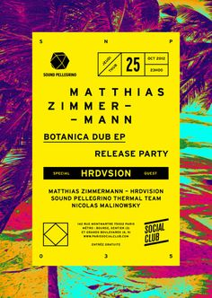 Poster for Matthias Zimmermann Release Party by Ill studio