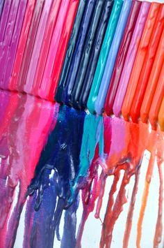 beautiful colors! crayon melt