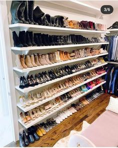 My Closet + Organization Tips Closet Renovation, Closet Remodel, Closet Space, Walk In Closet, Closet Shoe Storage, Shoe Closet Organization, Bag Closet, Closet Layout, Master Bedroom Closet