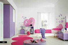 The purple and pink are the concept of the color schemes which serves the design of the interior design with harmonious color combination. Description from bedroomtrends.net. I searched for this on bing.com/images