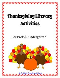 Thanksgiving Turkey literacy center activities for prek and kindergarten #TpT