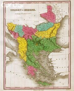 Map of Ottoman Empire in Europe.