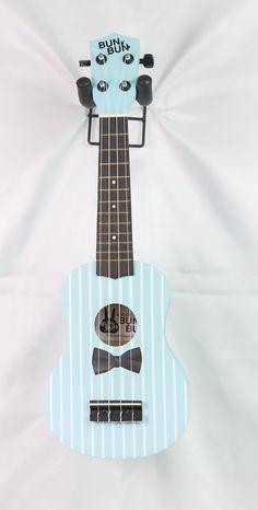 BUNBUN Ukulele Maple Size Soprano Bow Light Blue Aquila String BB118-BowGN
