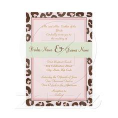 Pink Leopard Wedding Invitation from Zazzle.com