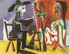 Pablo Picasso_Painter and Model_1963 https://dashburst.com/david-goldberg/355