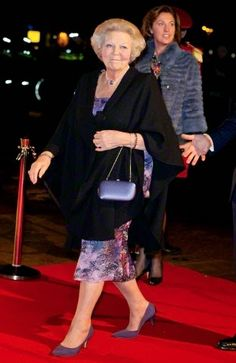 Dutch Princess Beatrix attending the 75th birthday celebration of Pieter van Vollenhoven and the 25th jubilee of Fonds Slachtofferhulp (victim help fund) at the Beatrixtheater in Utrecht, The Netherlands, 08.12.2014.