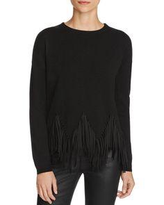 Karen Millen Zig-Zag Fringe Sweater