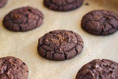 FUDGY DOUBLE DARK CHOCOLATE BLACK BEAN COOKIES (VEGAN, GF) 1 15 oz can black beans, rinsed and drained 2 T. melted coconut oil 2 T. brown rice flour ½ t. baking powder or baking soda ½ t. sea salt 6 T. cocoa powder 4 T. coconut sugar 2 T. maple syrup 1 T.plant milk ¼ t.stevia extract 2 t. vanil