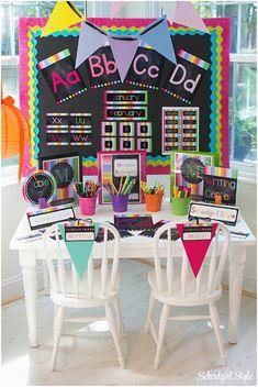 Rainbow Chalkboard Classroom Decor/Theme by Schoolgirl Style