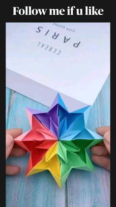 Cool Paper Crafts, Paper Crafts Origami, Diy Crafts Hacks, Diy Crafts For Gifts, Diy Craft Projects, Fun Crafts, Crafts For Kids, Paper Folding Crafts, Paper Crafting