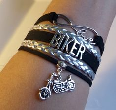 Biker bracelet Motorcycle bracelet Motocross gift by SummerWishes
