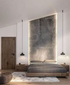 Decor rustic bedroom interior design 49 New Ideas Room Interior, Interior Design Living Room, Living Room Decor, Interior Doors, Interior Lighting, Modern Bedroom Lighting, Bedside Lighting, Living Room Modern, Dining Room