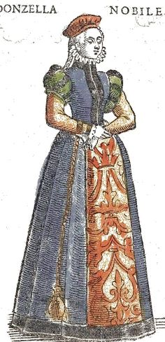 from a woodcut from Cesare Vecellio's Renaissance Costume Book first printed in 1590.