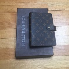 Louis Vuitton Medium Ring Agenda Cover (like new) Monogram canvas, press stud closure, 6 ring binder, 6 credit card slots.  Like new, authentic w/ dust bag, box and receipt (barely used w/ very minor wear on gold press stud closure).  Purchased from Saks in May 2015. Misc agenda accessories included: Louis Vuitton 2016 at a glance calendar, Kikki K bookmark ruler, Filofax zip lock envelope (2 - one opened and one new in package), Filofax credit card holder (2 - one opened and one new in…
