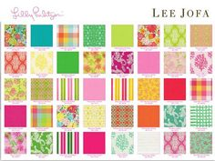 Come check out the Lee Jofa for Lilly Pulitzer fabrics at Palm Beach Tots.   We have Lilly furniture also.