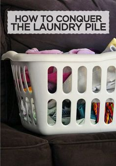 #Tide #GotItFree #laundryinnovation Conquering the laundry pile: Catch up and create a system that works in just one week!