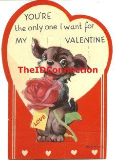 Vintage Valentine Digital Download Puppy Dog by TheIDconnection, $10.00