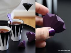 DIY: Origami Paper Diamonds Diy Origami, Origami And Kirigami, Origami Paper Art, Origami Folding, Diy Paper, Paper Crafts, Oragami, Paper Diamond, Diy Love