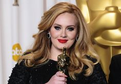 #CeleBeauty Watch: Get the Look—Adele's Half-Updo Hairstyle at the 2013 Oscar's #beauty
